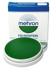 Mehron Foundation Greasepaint Green 1.25oz - Silly Farm Supplies
