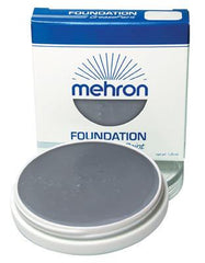 Mehron Foundation Greasepaint Monster Grey 1.25oz - Silly Farm Supplies