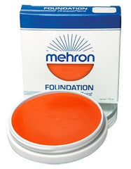 Mehron Foundation Greasepaint Orange 1.25oz - Silly Farm Supplies