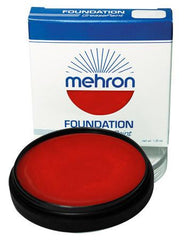 Mehron Foundation Greasepaint Red 1.25oz - Silly Farm Supplies