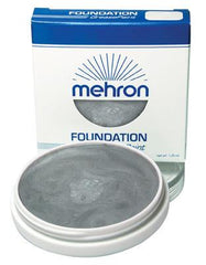 Mehron Foundation Greasepaint Silver 1.25oz - Silly Farm Supplies