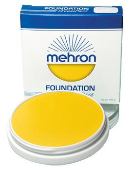 Mehron Foundation Greasepaint Yellow 1.25oz