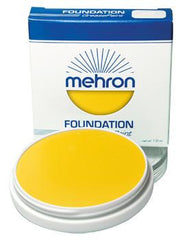 Mehron Foundation Greasepaint Yellow 1.25oz - Silly Farm Supplies