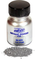 Mehron Metallic Powder Silver - Silly Farm Supplies