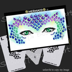 Mermaid Stencil Eyes Stencil - Silly Farm Supplies