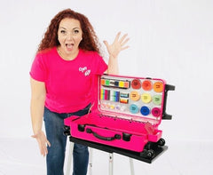 "MINI Hot Pink Craft-n-Go Paint 22"" Station with Accessories - Silly Farm Supplies"
