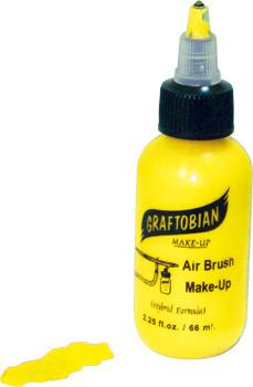 Neon Yellow Graftobian F/X AIRE Airbrush Make Up 2.25oz