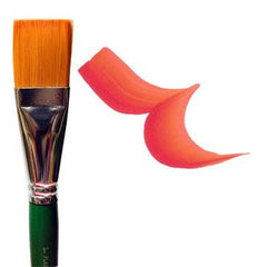 "One Stroke 1"" Nylon Flat Brush - Silly Farm Supplies"
