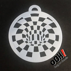 Optical Illusion Blocks Face Paint Stencil by Ooh! Body Art (C08) - Silly Farm Supplies