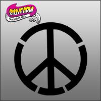 Peace Sign Easy Glitter Tattoo Stencil 10 Pack - Silly Farm Supplies