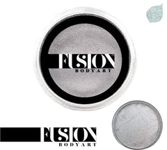 Pearl Metallic Silver 32g Fusion Body Art Face Paint - Silly Farm Supplies