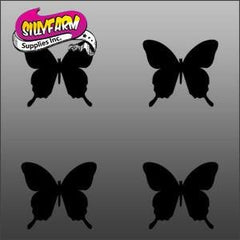 Petite Butterfly 1 Glitter Tattoo Stencil 10 Pack - Silly Farm Supplies