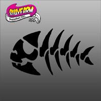 Pirate Fish Bone Glitter Tattoo Stencil 10 Pack