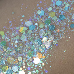 Pisces Glitter Creme 10g Jar by Amerikan Body Art - Silly Farm Supplies