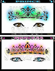 Prince and Princesses Stencil Eyes Stencil - Silly Farm Supplies