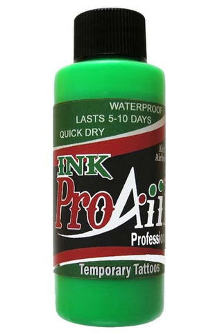 ProAiir Fluorescent Green Temporary Airbrush Ink