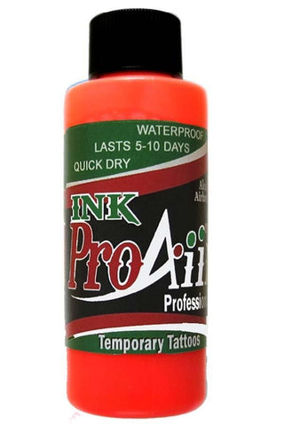 ProAiir Fluorescent Orange Temporary Airbrush Ink