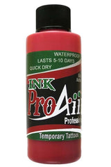 ProAiir Lipstick Red Temporary Airbrush Ink - Silly Farm Supplies