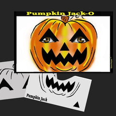 Pumpkin Jack-O Stencil Eyes Stencil - Silly Farm Supplies