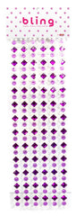 Purple Crystal and Flower Bling Bag- 462 pieces - Silly Farm Supplies