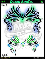 Queen A-nuRa Stencil Eyes Stencil - Silly Farm Supplies