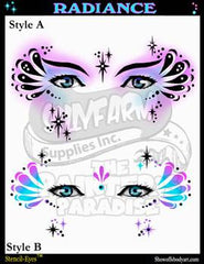 Radiance Stencil Eyes Stencil - Silly Farm Supplies