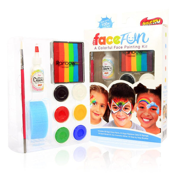 Rainbow Party Silly Face Fun Kit- BUY ONE GET ONE FREE!