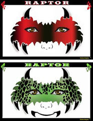 Raptor Mask Stencil Eyes Stencil - Silly Farm Supplies
