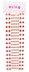 Red Crystal and Pearls Bling Bag- 272 pieces - Silly Farm Supplies