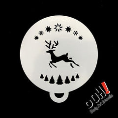 Reindeer Flips Face Paint Stencil by Ooh! Body Art (C20) - Silly Farm Supplies