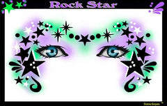 Rock Star Stencil Eyes Stencil - Silly Farm Supplies