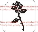 Rose Perfect Glitter Tattoo Y-Body Stencil 5 pack - Silly Farm Supplies