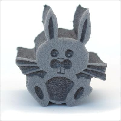 Ruby Red Cute Bunny Foam Stamp