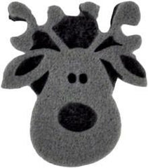 Ruby Red Reindeer Foam Stamp - Silly Farm Supplies