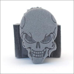 Ruby Red Skull Foam Stamp - Silly Farm Supplies