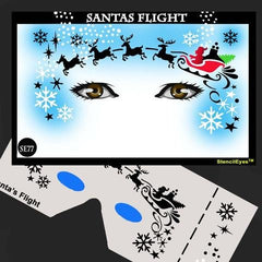 Santas Flight Stencil Eyes Stencil (SE77) - Silly Farm Supplies