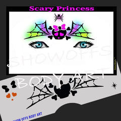 Scary Princess Stencil Eyes Stencil - Silly Farm Supplies