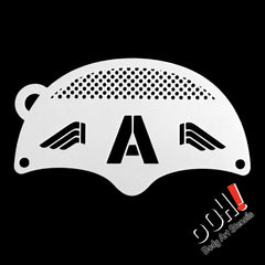 Sergeant Patriot Mask Face Paint Stencil by Ooh! Body Art (K04) - Silly Farm Supplies