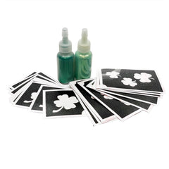 Shamrock Glitter Tattoo Kit - Silly Farm Supplies