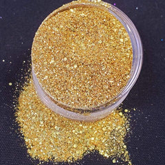 Shiny Gold Mermaid Magic Eco-Friendly GLITTERPRO Loose Glitter- 10g Jar - Silly Farm Supplies