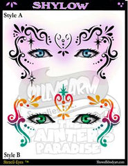 Shylow Stencil Eyes Stencil - Silly Farm Supplies