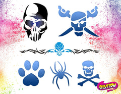 Silly Farm Airbrush Tattoo Stencil Set 1 - Silly Farm Supplies