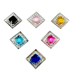 Assorted Square Gemstone Bling Bag- 40 per bag
