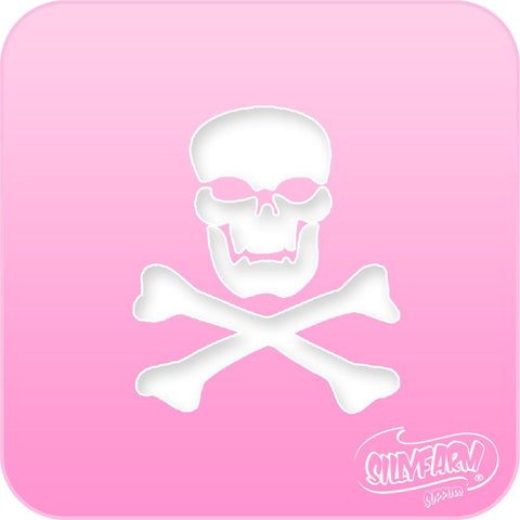 Skull and Cross Bones Pink Power Stencil