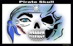 Skull Pirate Stencil Eyes Stencil - Silly Farm Supplies