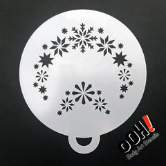 Snowflake 1 Flips Face Paint Stencil by Ooh! Body Art (C05) - Silly Farm Supplies
