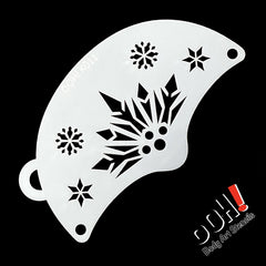 Snowflake Queen Mask Face Paint Stencil by Ooh! Body Art (K11) - Silly Farm Supplies