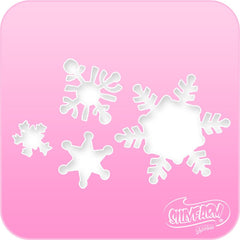 Snowflakes Pink Power Stencil - Silly Farm Supplies