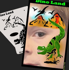 SOBA Profile Dino Land (T-Rex) Stencil - Silly Farm Supplies