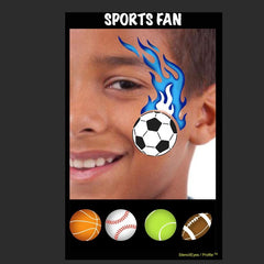 SOBA Profile Sports Fan Stencil - Silly Farm Supplies